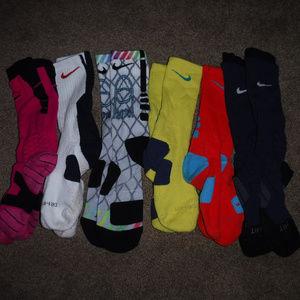 Nike Elite Vapor 6 Pair Bundle Men's Socks sz L